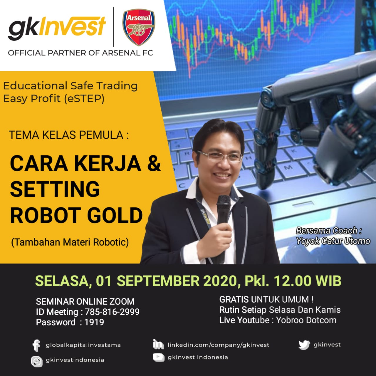 Testimoni Real Account dan Cara Kerja Dan Setting Robot Gold Level 1