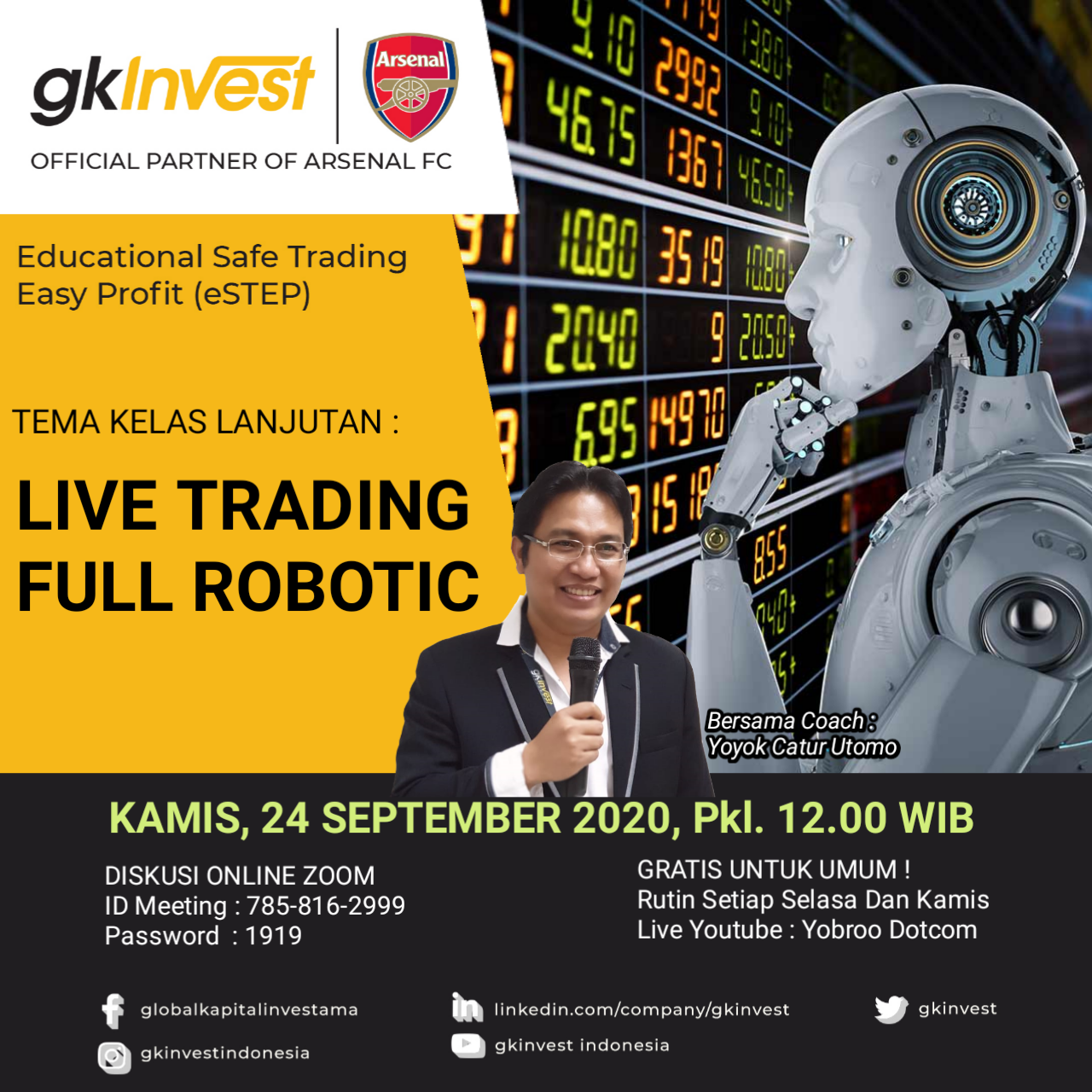Live Trading Full Robotic